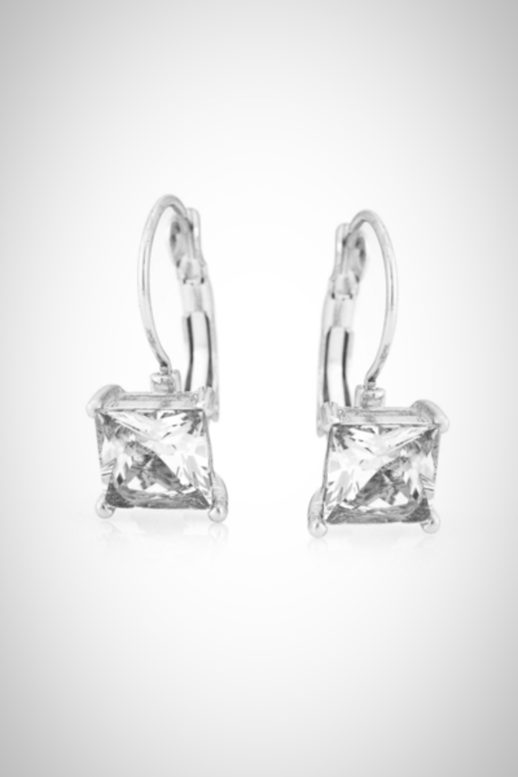 Embellish Solitaire Crystal Earrings - Front Cropped Image