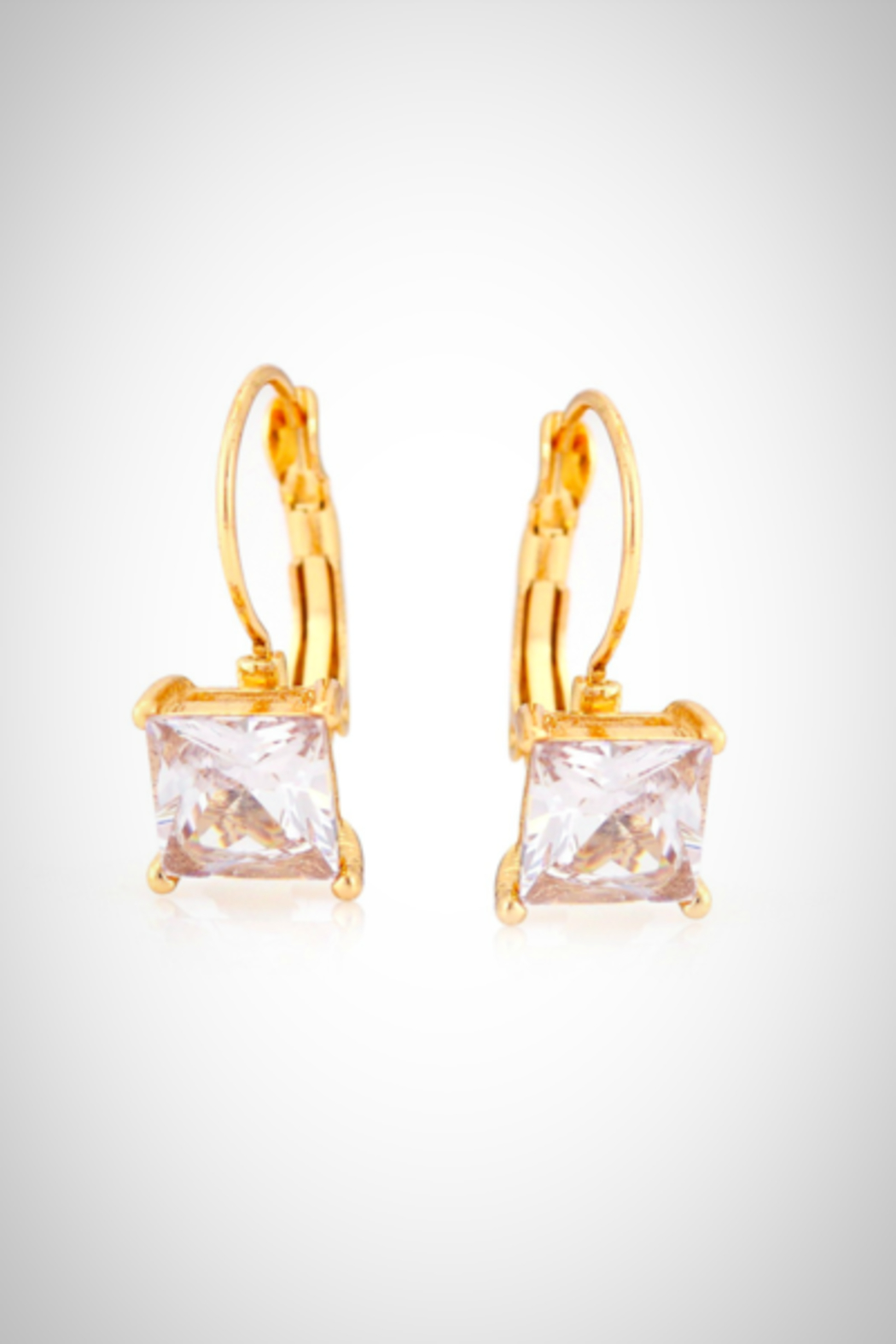Embellish Solitaire Crystal Earrings - Main Image