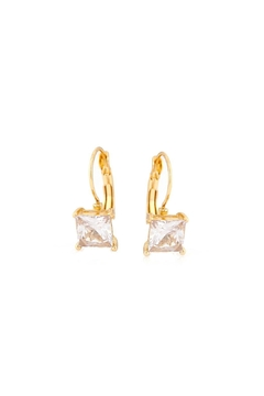 Embellish Solitaire Crystal Earrings - Alternate List Image