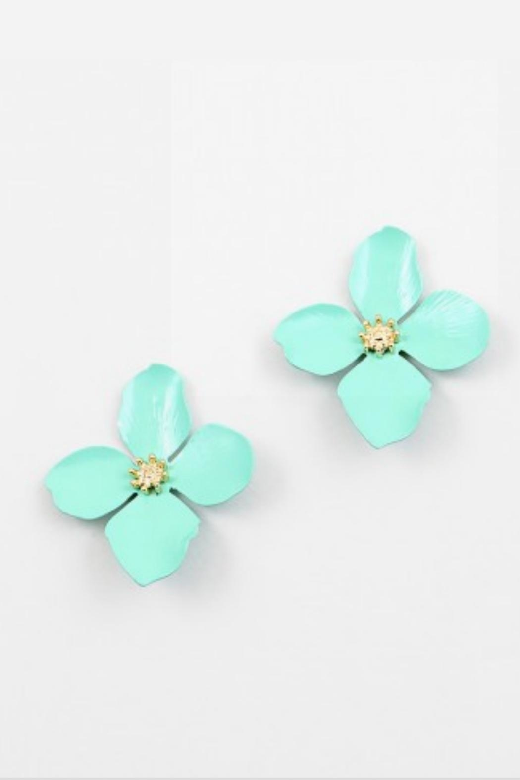 Embellish Spring Flower Earrings - Front Cropped Image