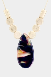 Embellish Stone Drop Necklace - Product Mini Image