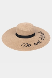 Embellish Straw Embroidered Hat - Product Mini Image