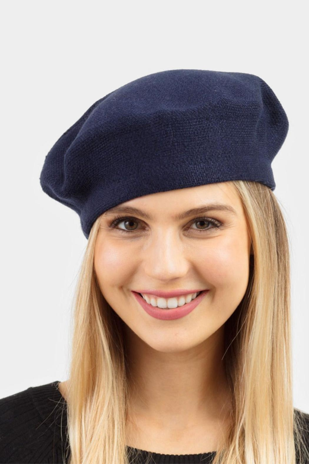 Embellish Stretch Beret Hat - Front Cropped Image