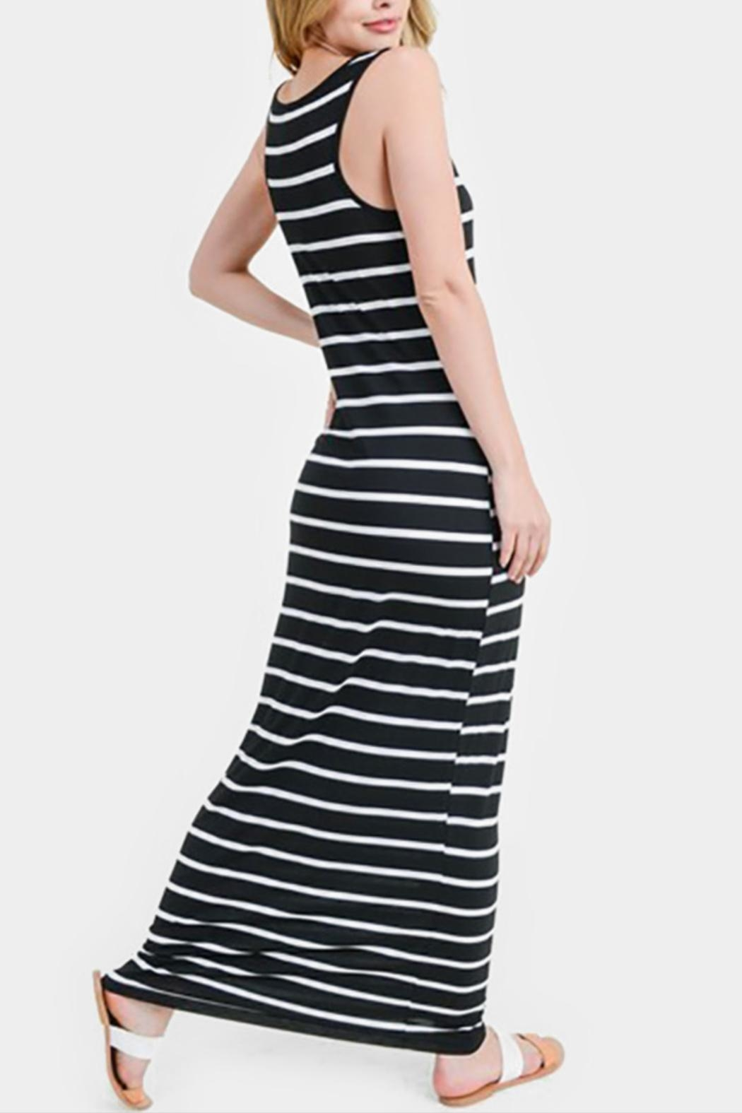 Embellish Striped Maxi Dress - Front Full Image