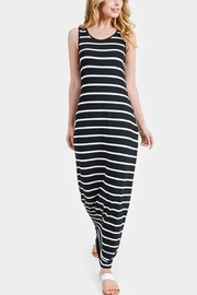 Embellish Striped Maxi Dress - Front cropped