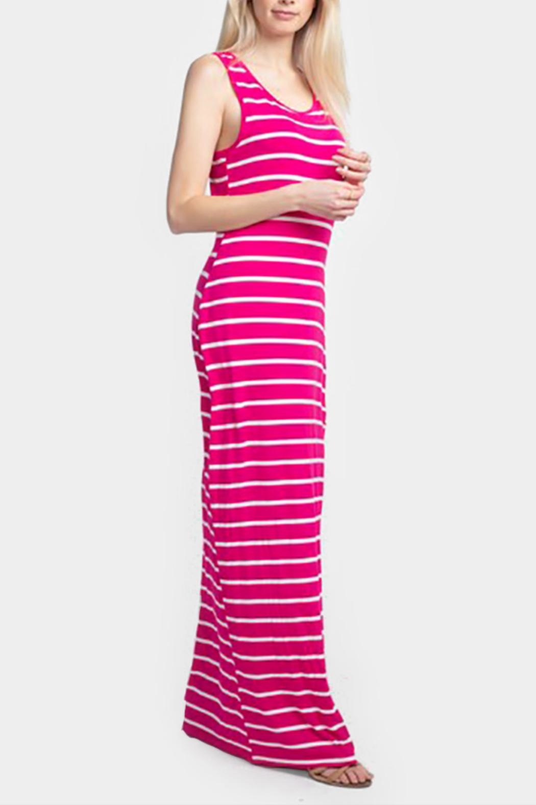 Embellish Striped Maxi Dress - Main Image