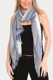 Embellish Striped Oblong Scarf - Front cropped