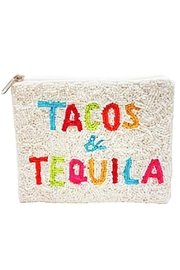 Embellish Tacos And Tequila Pouch Beaded Pouch Bag - Product Mini Image
