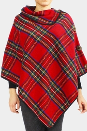 Embellish Tartan Plaid Poncho - Product Mini Image