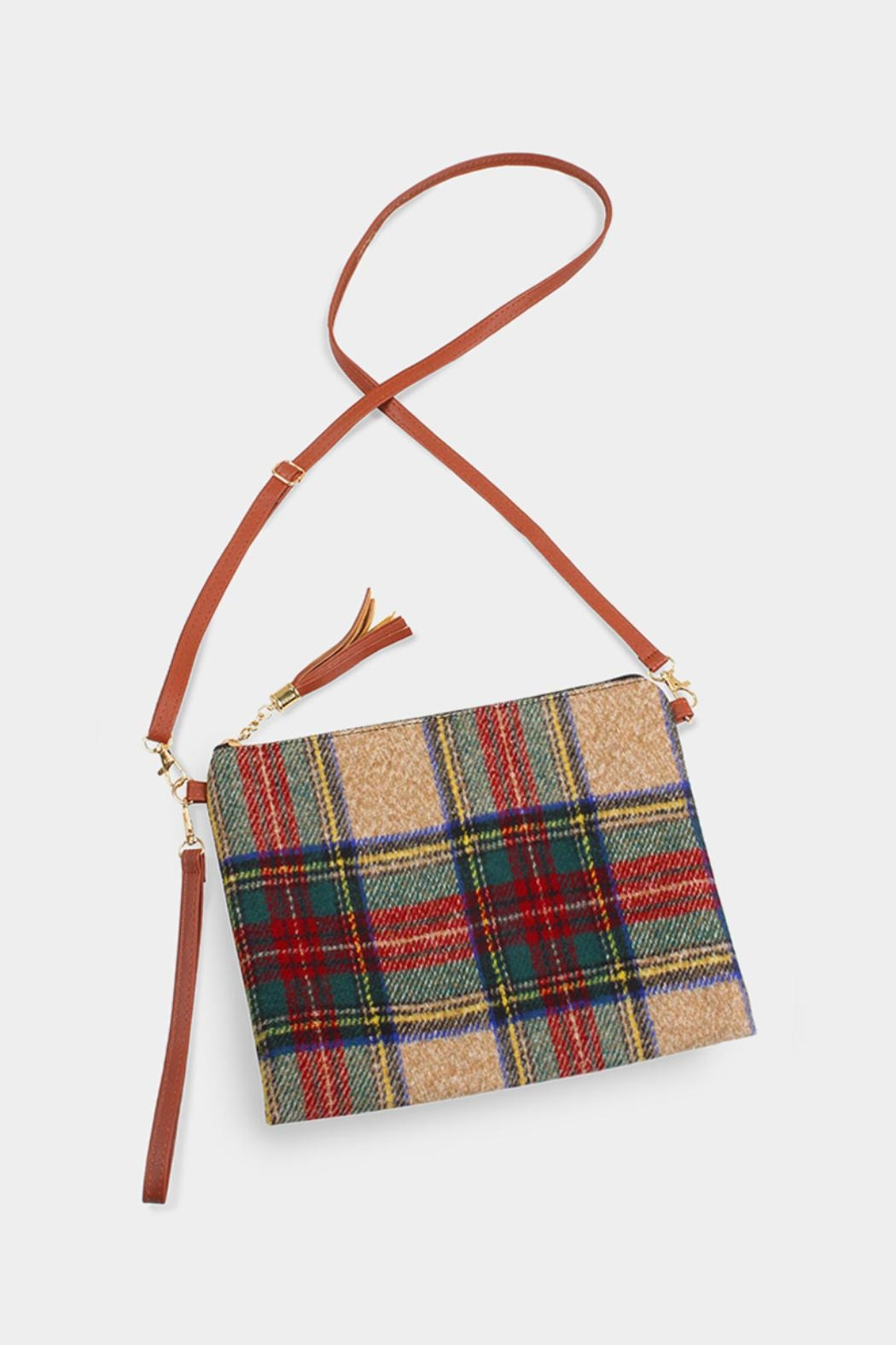 Embellish Plaid Cross-Body Bag - Main Image