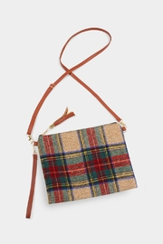 Embellish Plaid Cross-Body Bag - Front cropped