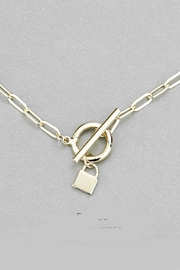 Embellish Toggle Lock Necklace - Product Mini Image