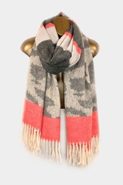 Embellish Tone Leopard Scarf - Front cropped