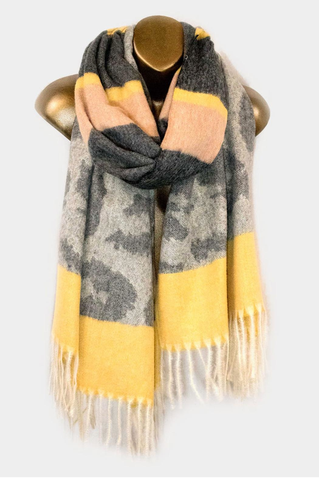 Embellish Tone Leopard Scarf - Front Cropped Image