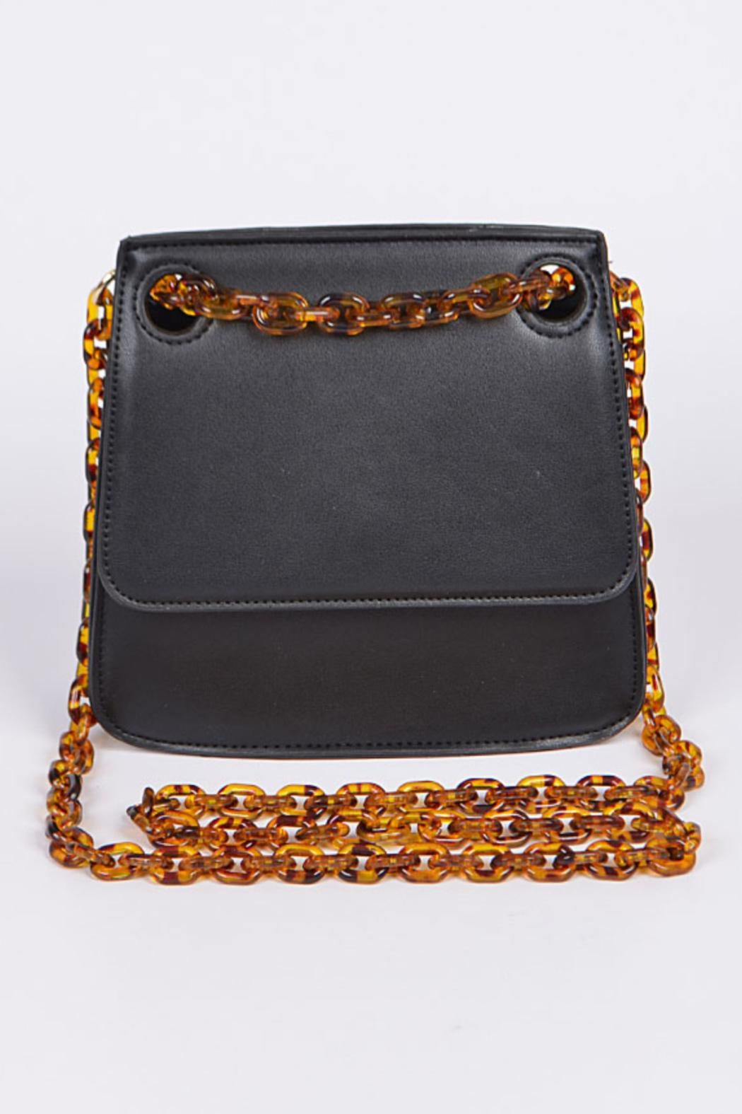 Embellish Tortoise Chain Bag - Front Cropped Image