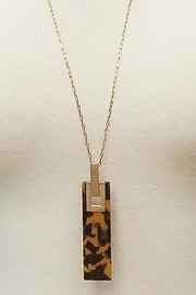 Embellish Torty Bar Necklace - Front full body