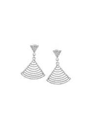 Embellish Silver Crystal Earrings - Product Mini Image