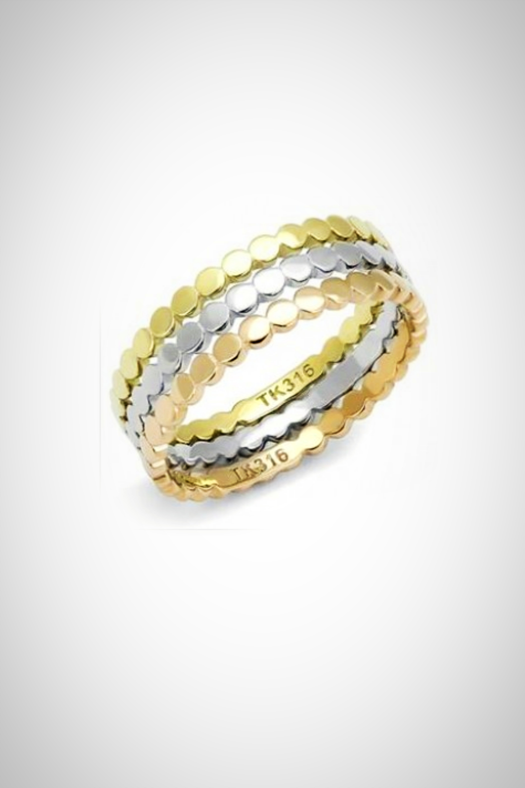 Embellish Tritone Set/3 Rings - Front Cropped Image