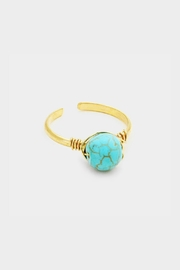 Embellish Turquoise Bead Ring - Product Mini Image