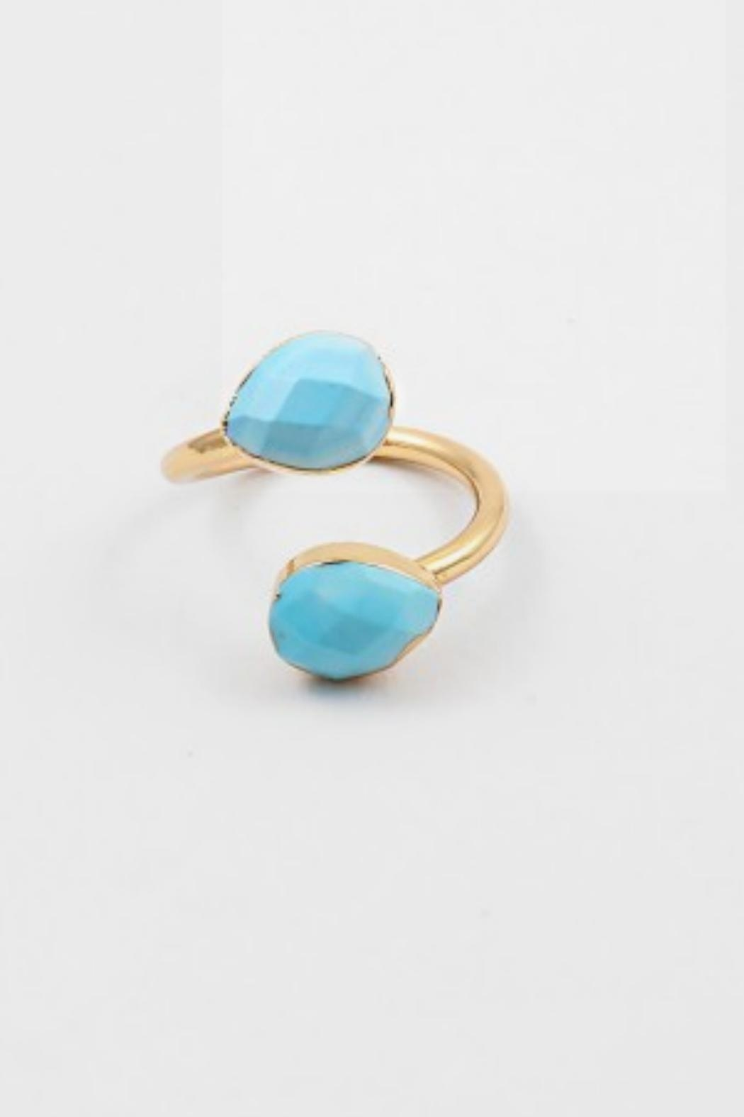 Embellish Turquoise Gold Ring - Main Image