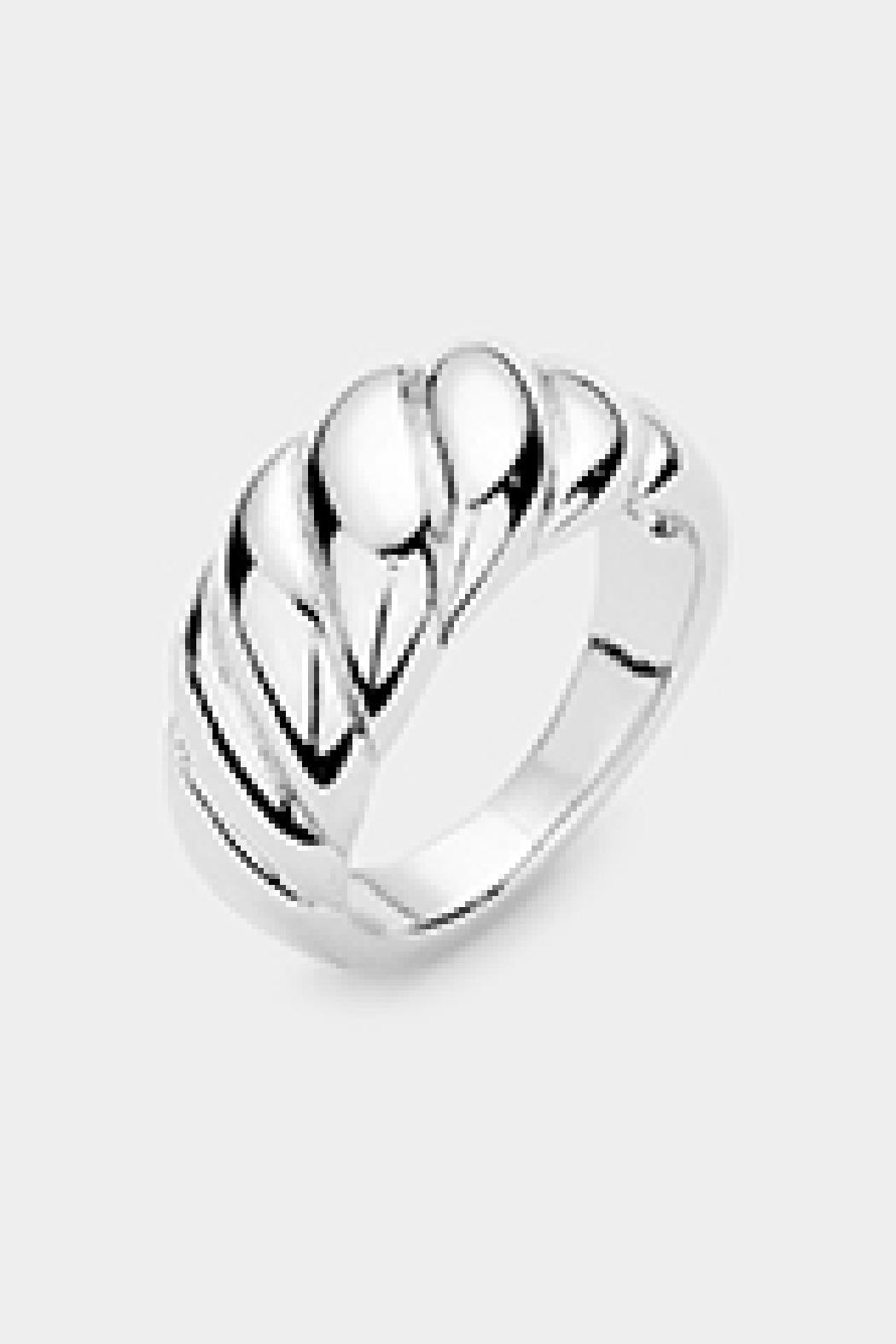 Embellish Twist Dome Ring - Front Cropped Image
