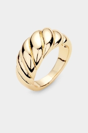Embellish Twist Dome Ring - Front cropped