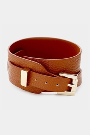 Embellish Vegan Leather Wrap Buckle Bracelet - Product Mini Image