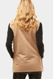 Embellish Vegan Suede Vest - Front full body