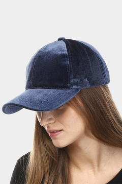 Embellish Velvet Louis V Up-Cycled Cap - Alternate List Image