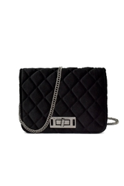 Embellish Velvet Quilted Bag - Front cropped