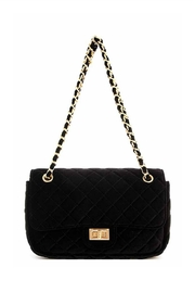 Embellish Velvet Quilted Bag - Product Mini Image