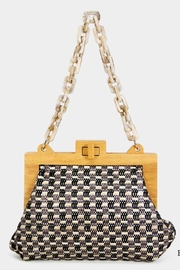 Embellish Woven Straw Bag - Front cropped