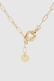 Embellish Y Paperclip Lariat Necklace - Product Mini Image