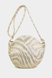 Embellish Zebra Straw Bag - Product Mini Image