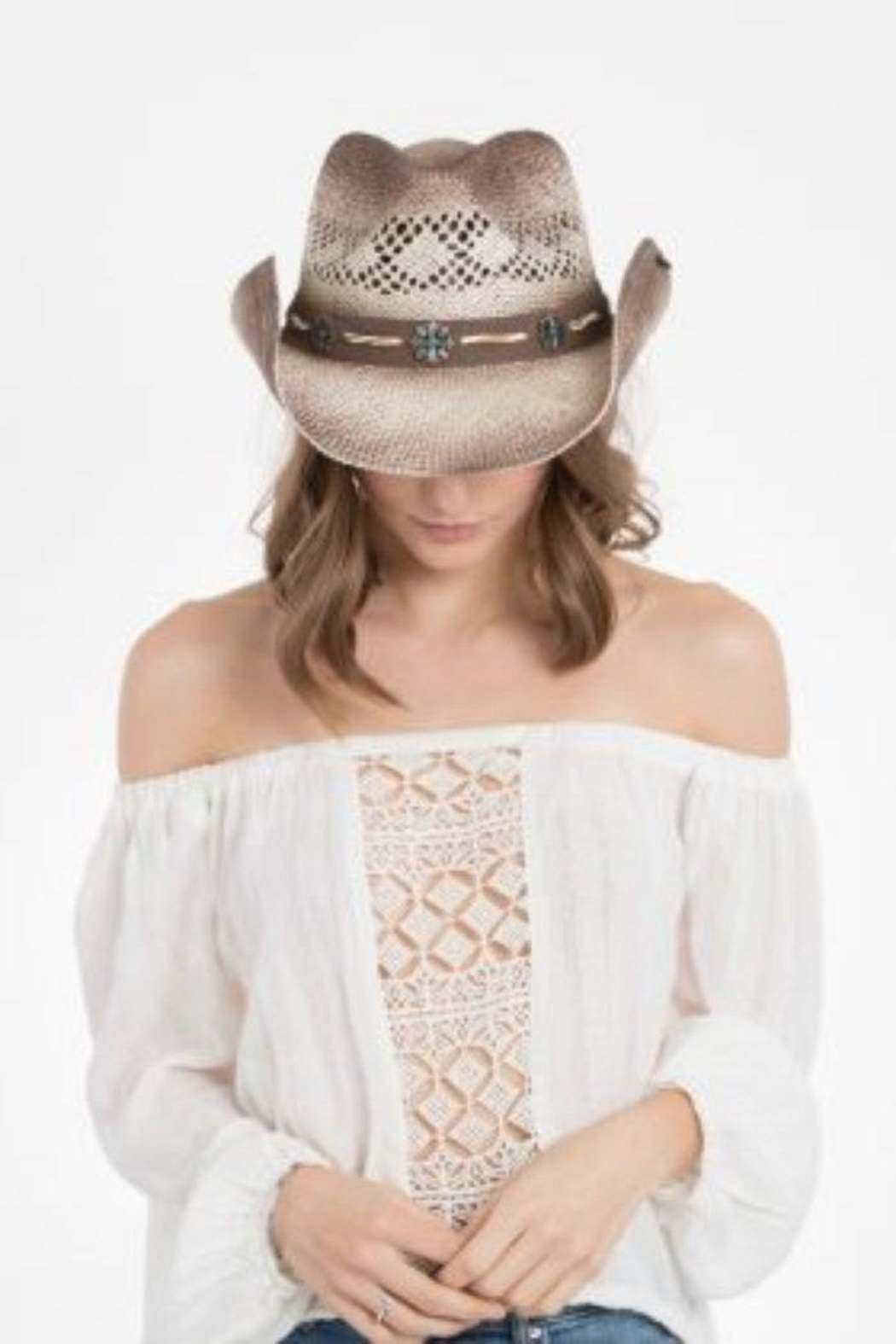 Peter Grimm Embellished Band Hat - Side Cropped Image