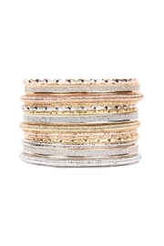 Riah Fashion Embellished Bangle Set - Product Mini Image