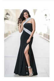 Jovani Embellished Black Gown - Product Mini Image