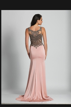 Dave and Johnny Embellished Blush Gown - Alternate List Image