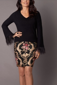 Hilary Radley Embellished Brocade Skirt - Alternate List Image