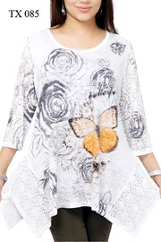 Indian Tropical Embellished Butterfly Tunic - Product Mini Image