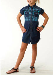 Roper Embellished Denim Dress - Product Mini Image