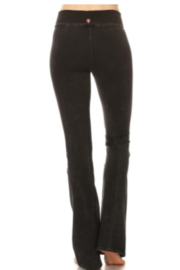 T Party Embellished Design Yoga Pants - Front full body