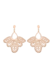 Riah Fashion Embellished-Filigree Post Earrings - Product Mini Image