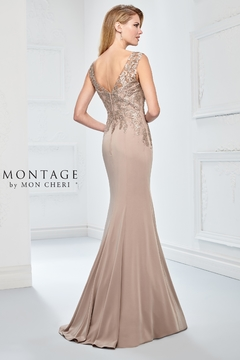 Montage Embellished Fit and Flare Dress, Latte - Product List Image