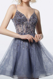 Jovani Embellished Fit & Flare Dress - Product Mini Image