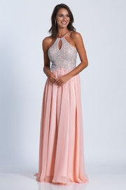Dave and Johnny Embellished Halter w/Chiffon Skirt - Product Mini Image