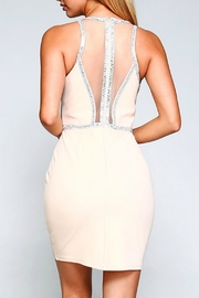 Minuet Embellished Illusion Detail Dress - Front full body