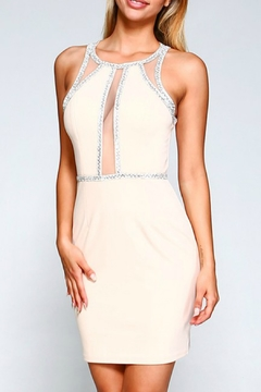 Shoptiques Product: Embellished Illusion Detail Dress