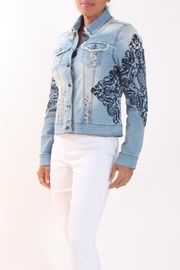 Talk of the Walk Embellished Jean Jacket - Product Mini Image