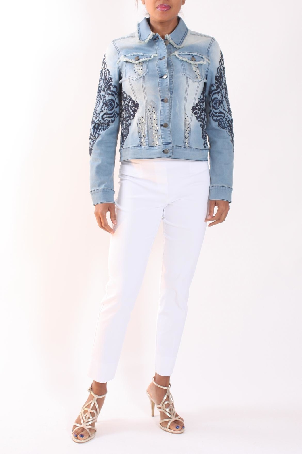 64c3a0eb754 Talk of the Walk Embellished Jean Jacket from New Jersey — Shoptiques